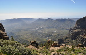 Vy över del av Gran Canaria