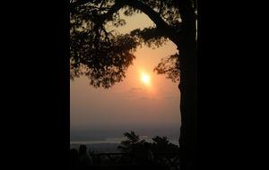 Solnedgång över Istanbul från Camlica