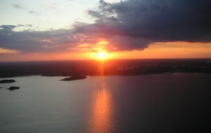 Solnedgången från Luftballongfärden.