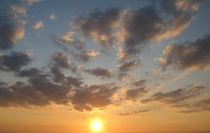 Solnedgang pa Arthurs Seat
