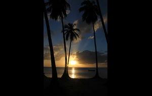 Solnedgång, Isla de Providencia