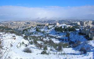 Snö i Jerusalem