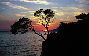 Solnedgång i Brela