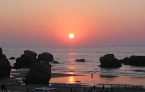 Solnedgång Biarittz