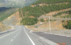 Ny och fin motorväg.