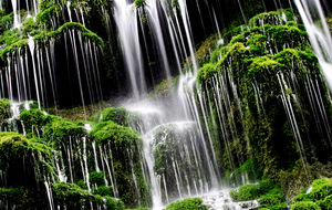 Grönt vattenfall