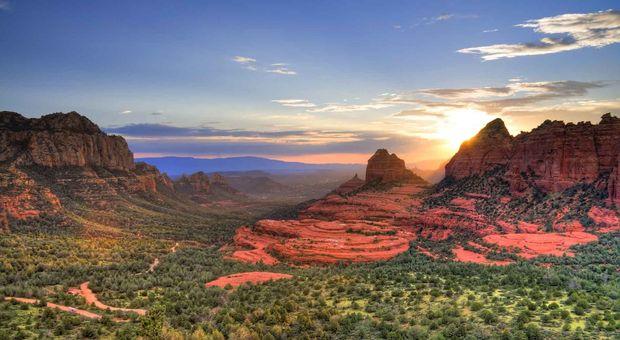 Magiskt ljus i Sedona, Arizona.