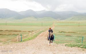 Tibetanska högplatån i Qinghai provinsen
