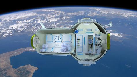 Så här kommer det att se ut! Världens första rymdhotell rymmer sju sängplatser. En långweekend kostar runt sex miljoner kronor, med all-inclusive.