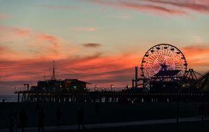 Santa Monica Pier after dark