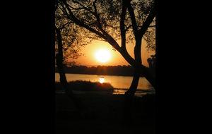 Båttur på Nilen i solnedgången...