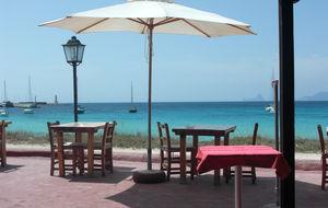På en restaurang, Formentera Ibiza