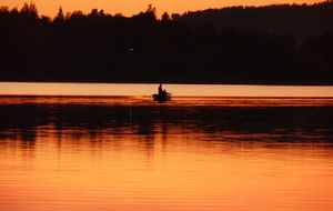Fiskare på Siljan