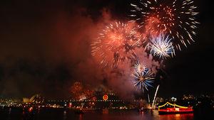 Nyårsfirandet i Sydney är spektakulärt.