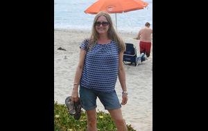 Njuter av värmen på Del Mar beachen