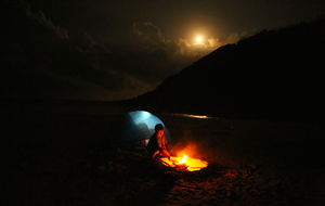 camping at Dam Mon Beach