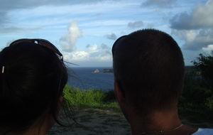 Vi tittar ut över Västindiska havet
