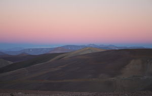 Kvällens färger över Anderna