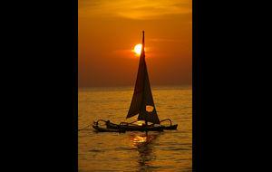 Solnedgång vid Long Beach