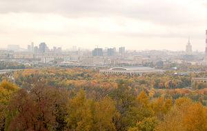Moskva från Sparvhöjden