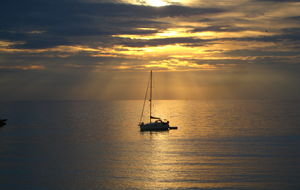 Solnedgång i Levanto