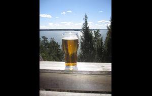 En kall öl på terrassen