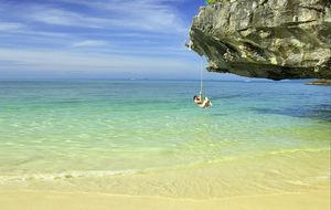Vackra Phra Nang Beach i Krabi
