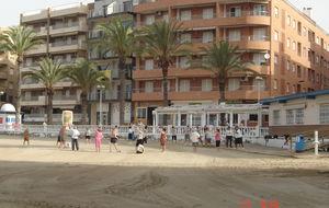 Morgon gympa på stranden!