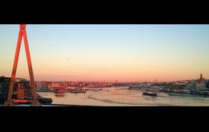 Januaridag i Göteborgs hamn