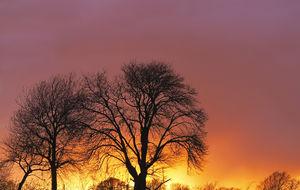 solnedgångsfärger i Valle