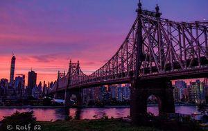 Magisk himmel över Manhattan
