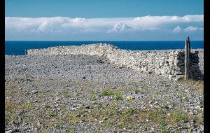 Kalkstensmur på Fårö