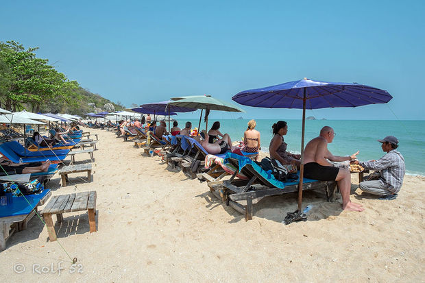 ... Bilder › Thailand › Hua Hin › Beach business på Sai Noi Beach