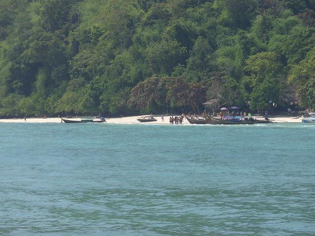 Chicken island fotat från Tup island - Bilder Ao Nang, Thailand
