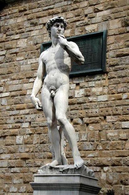 Davidsstatyn av Michelangelo - Bilder Florens, Toscana, Italien