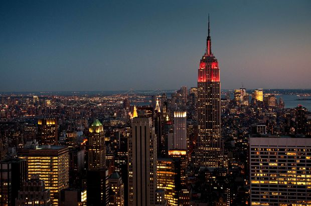 empire state building by night bilder new york usa. Black Bedroom Furniture Sets. Home Design Ideas