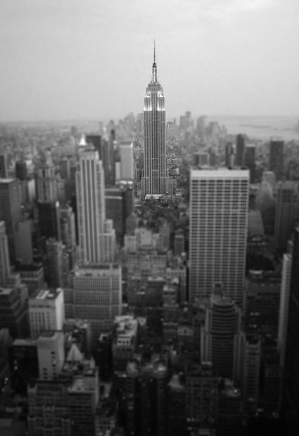 empire state building from top of the rock bilder new york usa. Black Bedroom Furniture Sets. Home Design Ideas