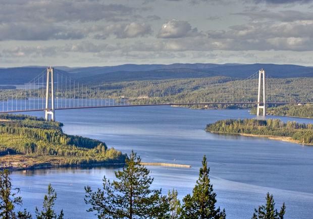Högakustenbron - Bilder Högakustenbron, Höga Kusten, Sverige