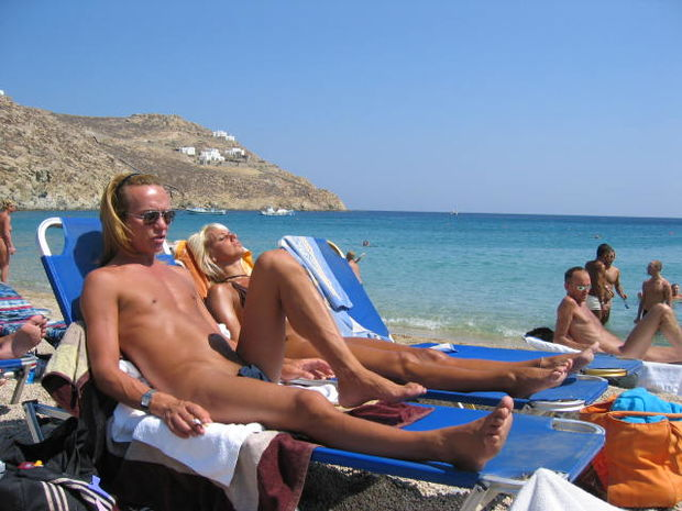 Are Nudist beaches in mykonos pretty babe