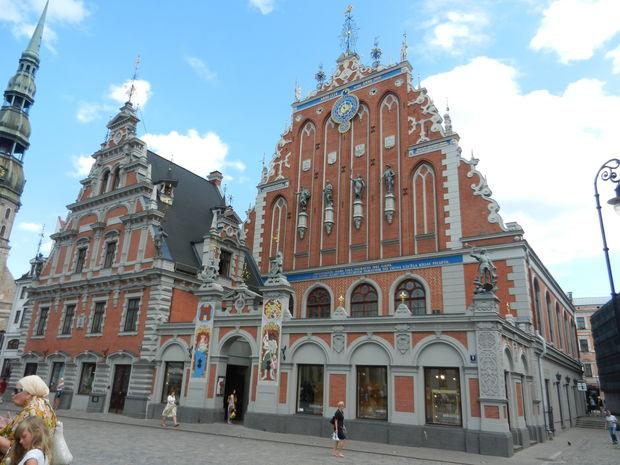 Svarthuvudenas hus - Bilder Riga, Lettland