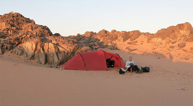 Tält i Sahara