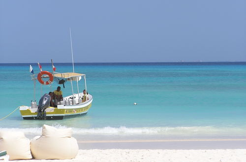 Stranden i Playa del Carmen