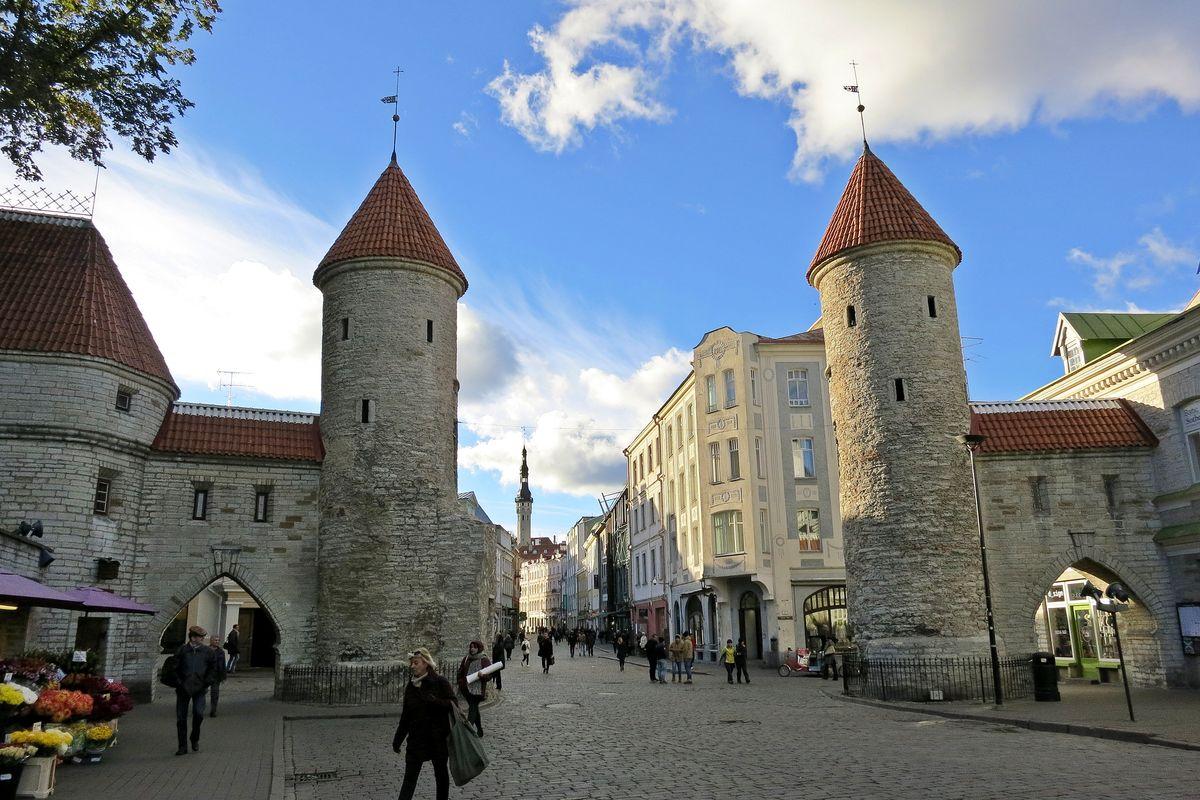 Tornen i gamla stan i Tallinn