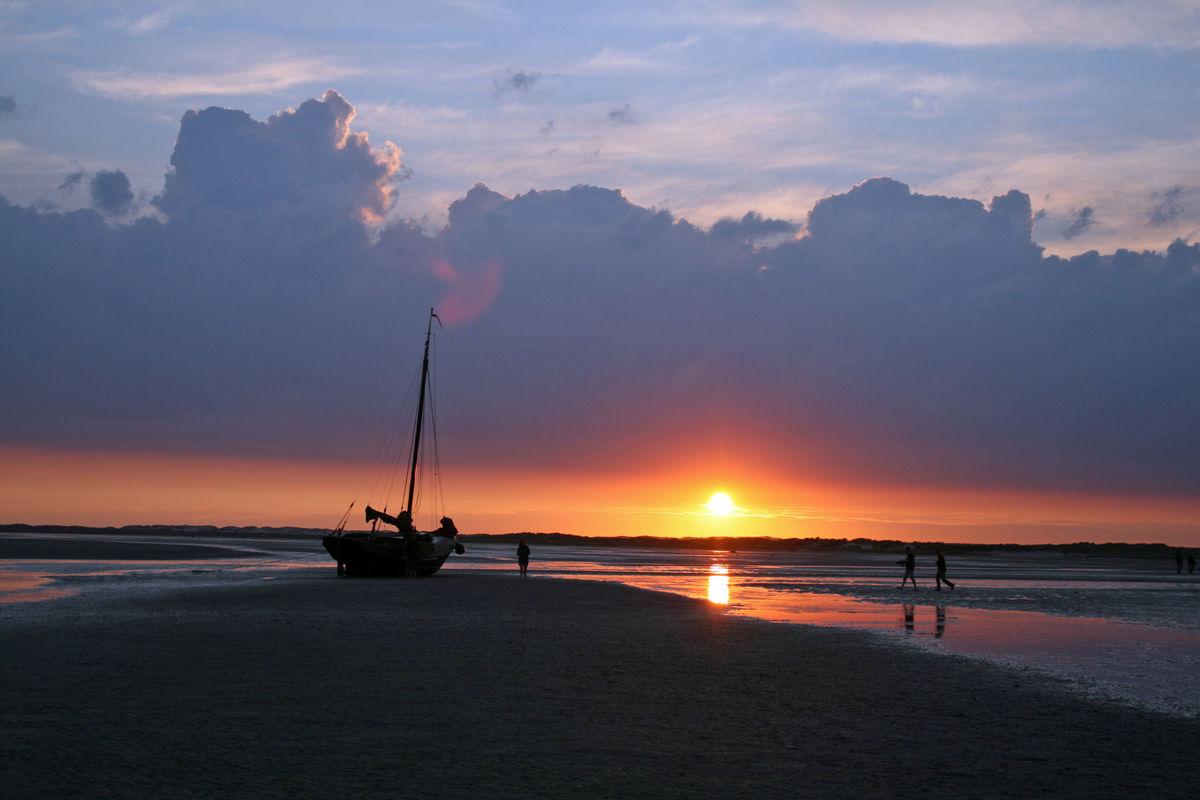 Sunset - low tide
