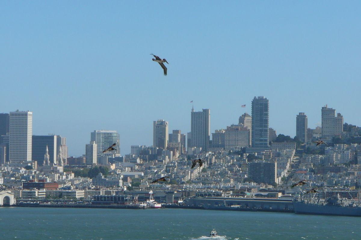 Utsikt över San Francisco från Alcatraz Island
