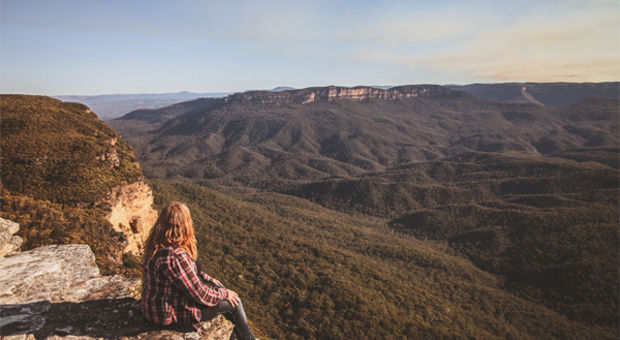 Helena vid Kings Tableland, Blue Mountains i Australien