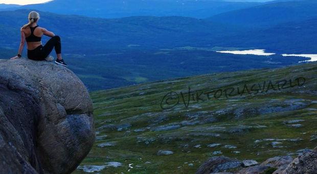 Fjällbild från en samisk helig plats i Sverige