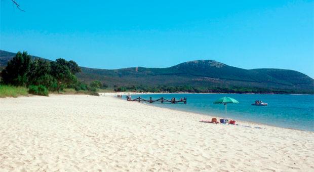 Stranden på Sardinien