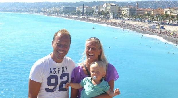 Petra med familj i härliga Nice