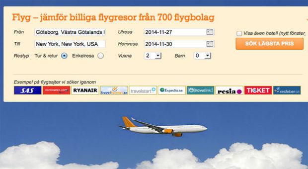 Boka ditt flyg direkt på Reseguiden.se